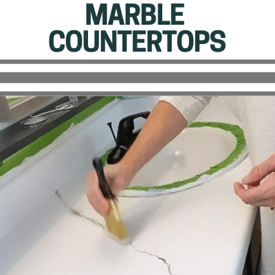 How to Paint Marble Countertops-One Room Challenge