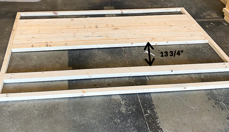Diagram of board placement for headboard