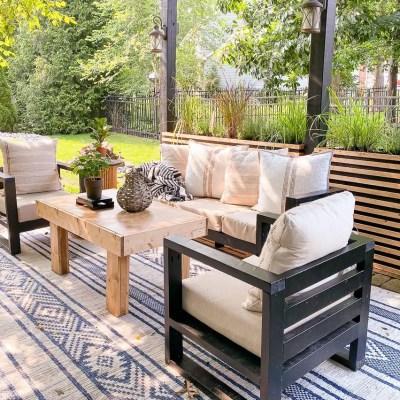 Easy How to Build a DIY Modern Outdoor Sofa