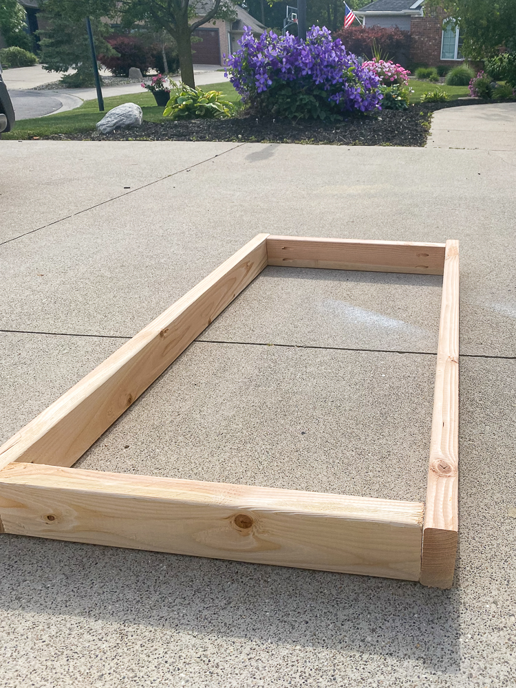 wooden frame for a furniture piece