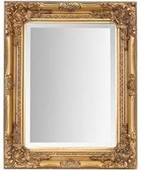 Ornate gold mirror.