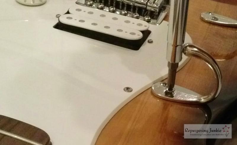 Repurposed Electric Guitar into Coat Garment Hat Rack Holder (6)