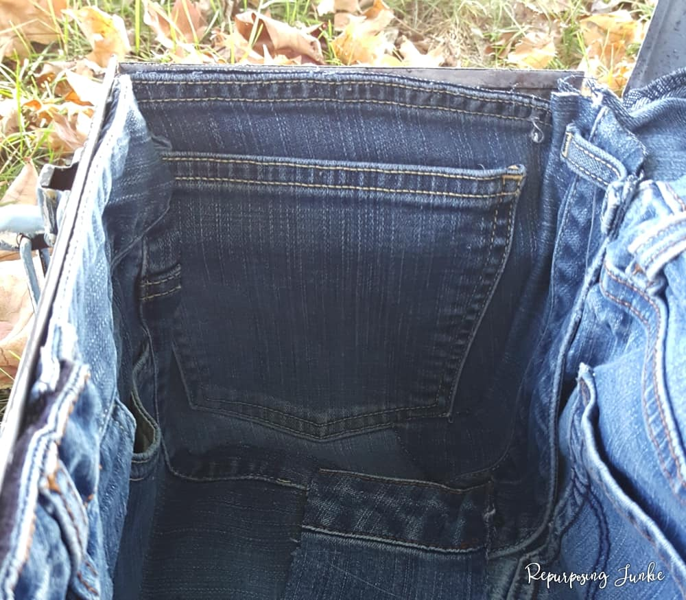 Repurposed Toolbox and Jeans