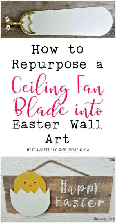 How to Repurpose a Ceiling Fan Blade into Easter Wall Art