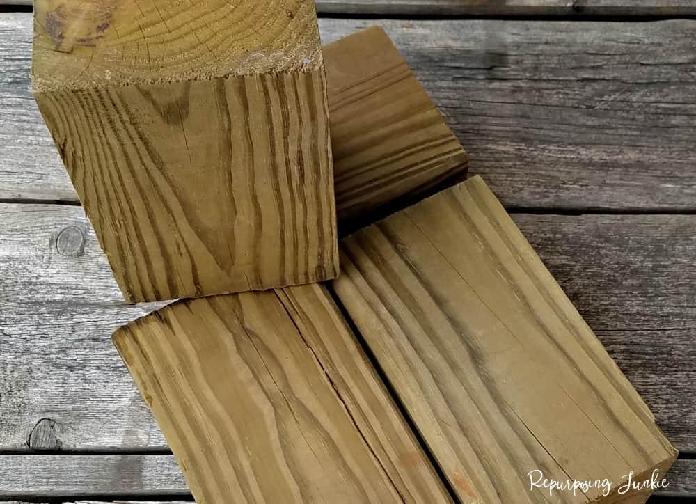 Planter using Repurposed Fan Blades and Scrap Lumber