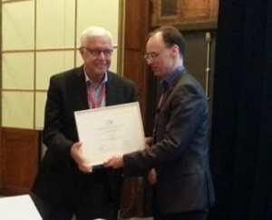 David Beukelman with ISAAC president Gregor Renner