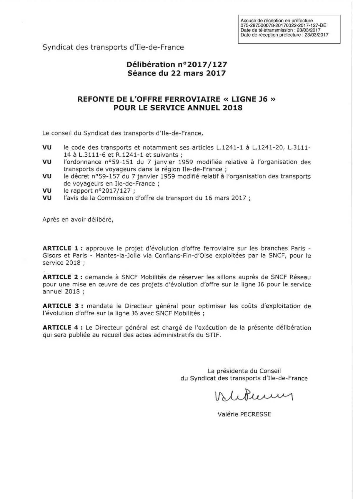 LIgne-J6-décision-IDF-SA2018-signee-Pecresse