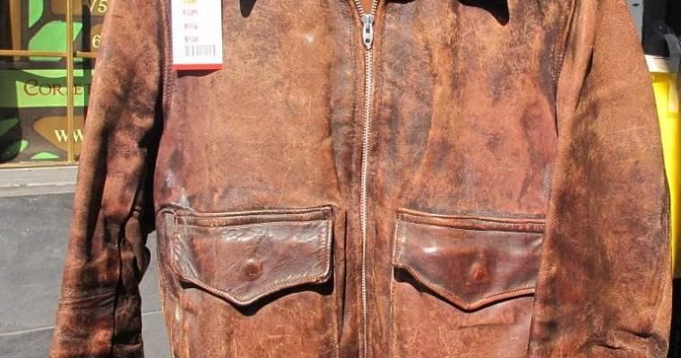 Old-School WWII Leather Bomber Flight Jacket