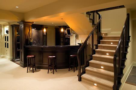 install new bar, basement