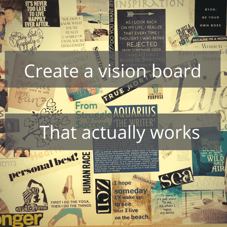 create a vision board that actually works