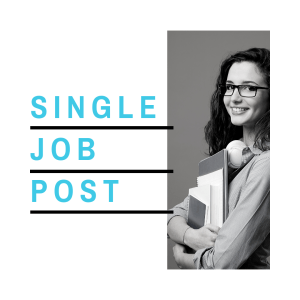 Image for single job post pricing page. Post jobs for students, entry level job board.