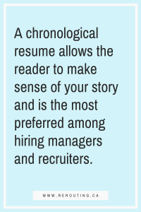 Update Your Resume Chronological resumes