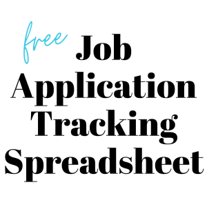 FREE JOB APPLICATION TRACKING SPREADSHEET