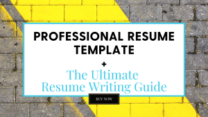 Professional Resume Template and Resume Writing Guide