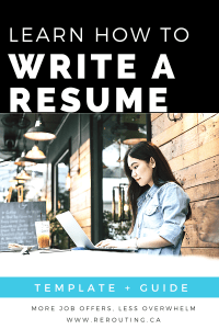 Learn How To Write A Resume Image