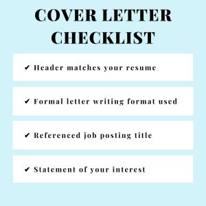 Cover Letter Checklist Instagram Post