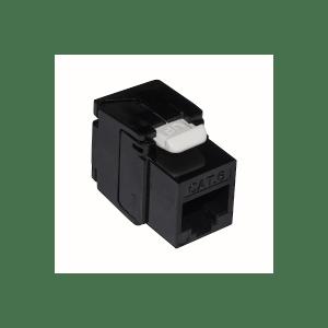 10 pz: Frutto RJ45 categoria 6 UTP tooless colore nero