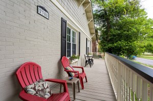 Kick Back and Enjoy the Sweeping Views of Byrd Park and Swan Lake From the Front Porch
