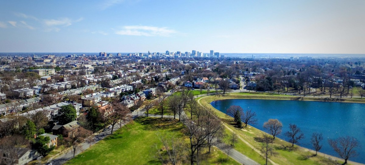 View Above Byrd Park in Richmond