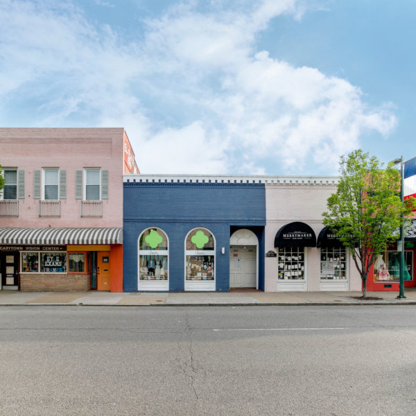 colorful shops along Cary Street