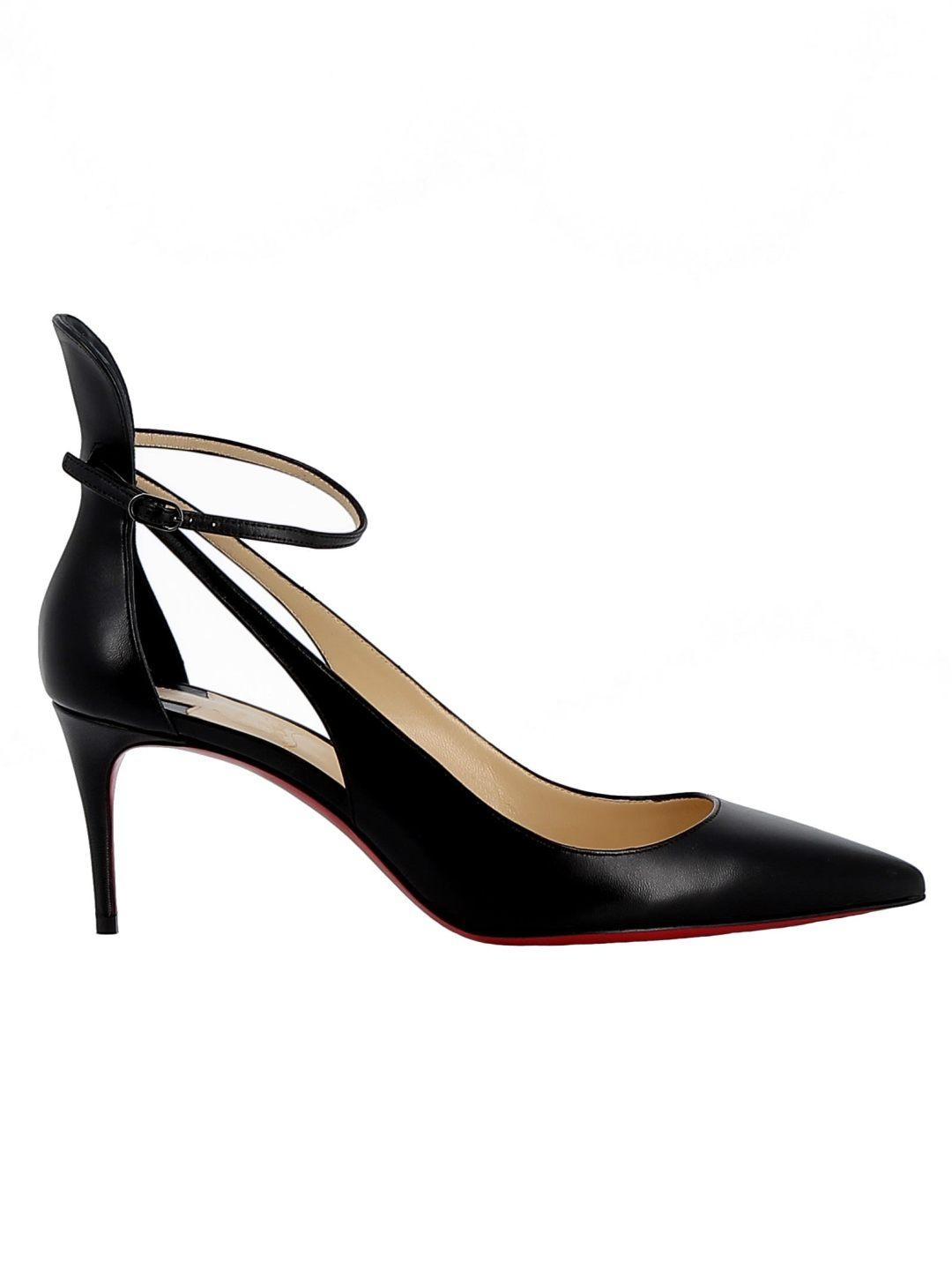 a4e61146830e Christian Louboutin Black Leather Sandals – Italist.com US –  716.23