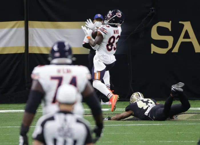 Dropped pass dooms improbable Bears effort