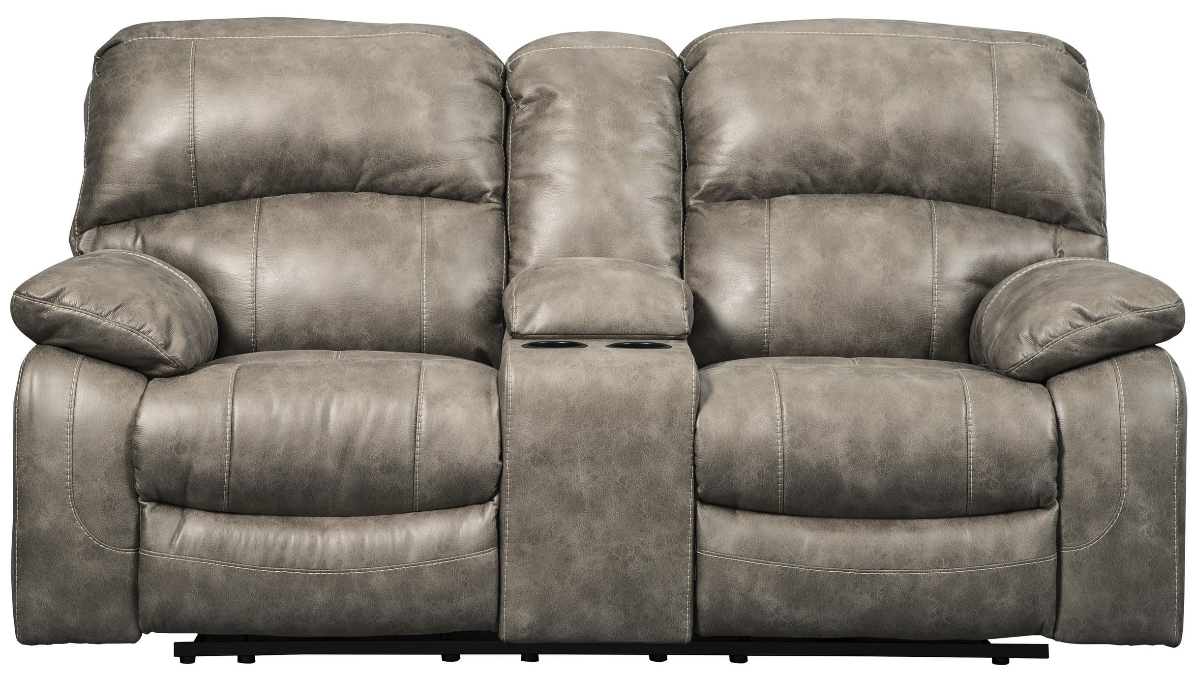 dunwell driftwood power recliner loveseat with console adjustable headrest