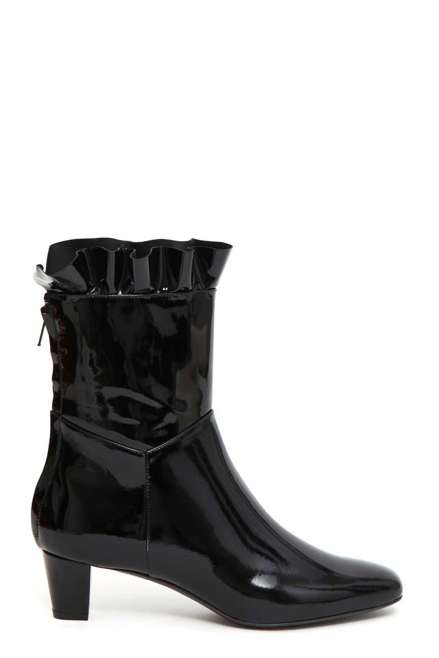 Philosophy Di Lorenzo Serafini Patent Leather Bootie With Frill, $595.5