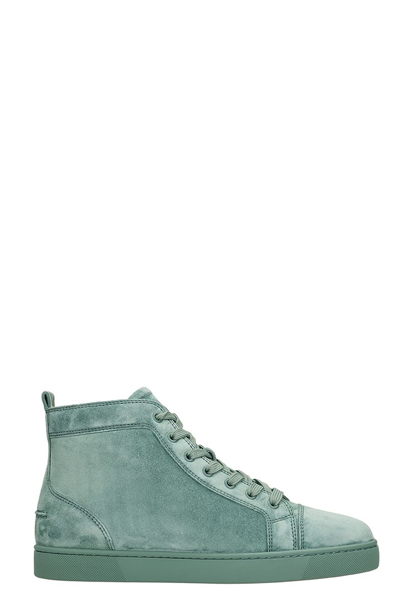 c582fee602f ...  696.77 – Christian Louboutin Louis Flat Green Suede Sneakers –  Italist.com US –  696.77