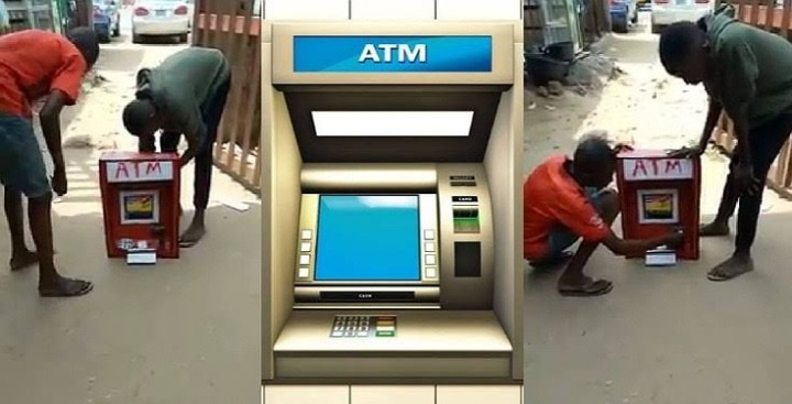 Little boy from Imo State, manufactures ATM that dispenses cash (video)