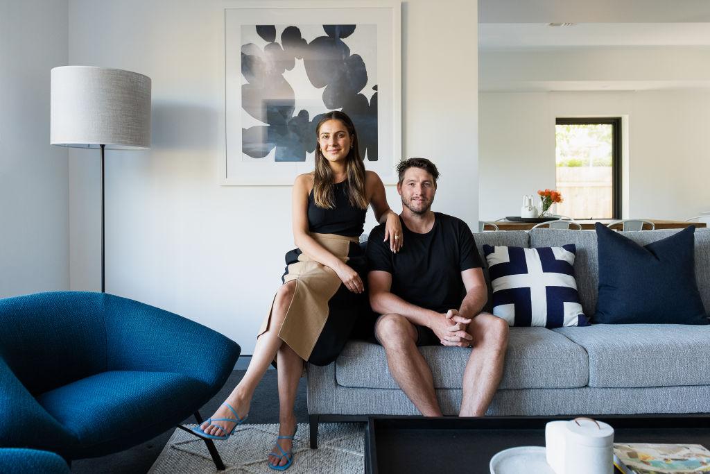 Ex-AFL star Dale Thomas & partner Natasha Bongiorno