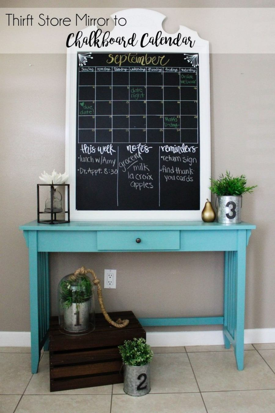 Chalkboards are extremely popular for any kinds of spaces – they are comfy in using and can inspire creativity and more communication, they can be also used as pinboards and magnet boards to make them more functional.