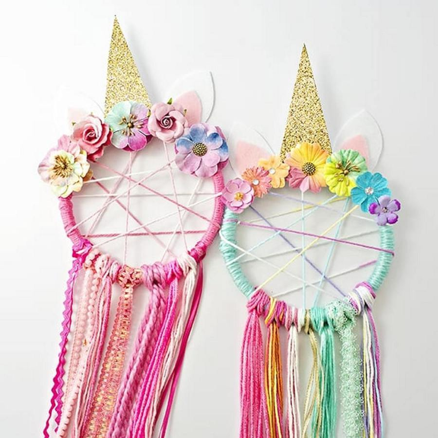 DIY dreamcatchers are quite easy to make, but difficult to explain. These DIY craft tutorials will likely help you much more than the written instructions.