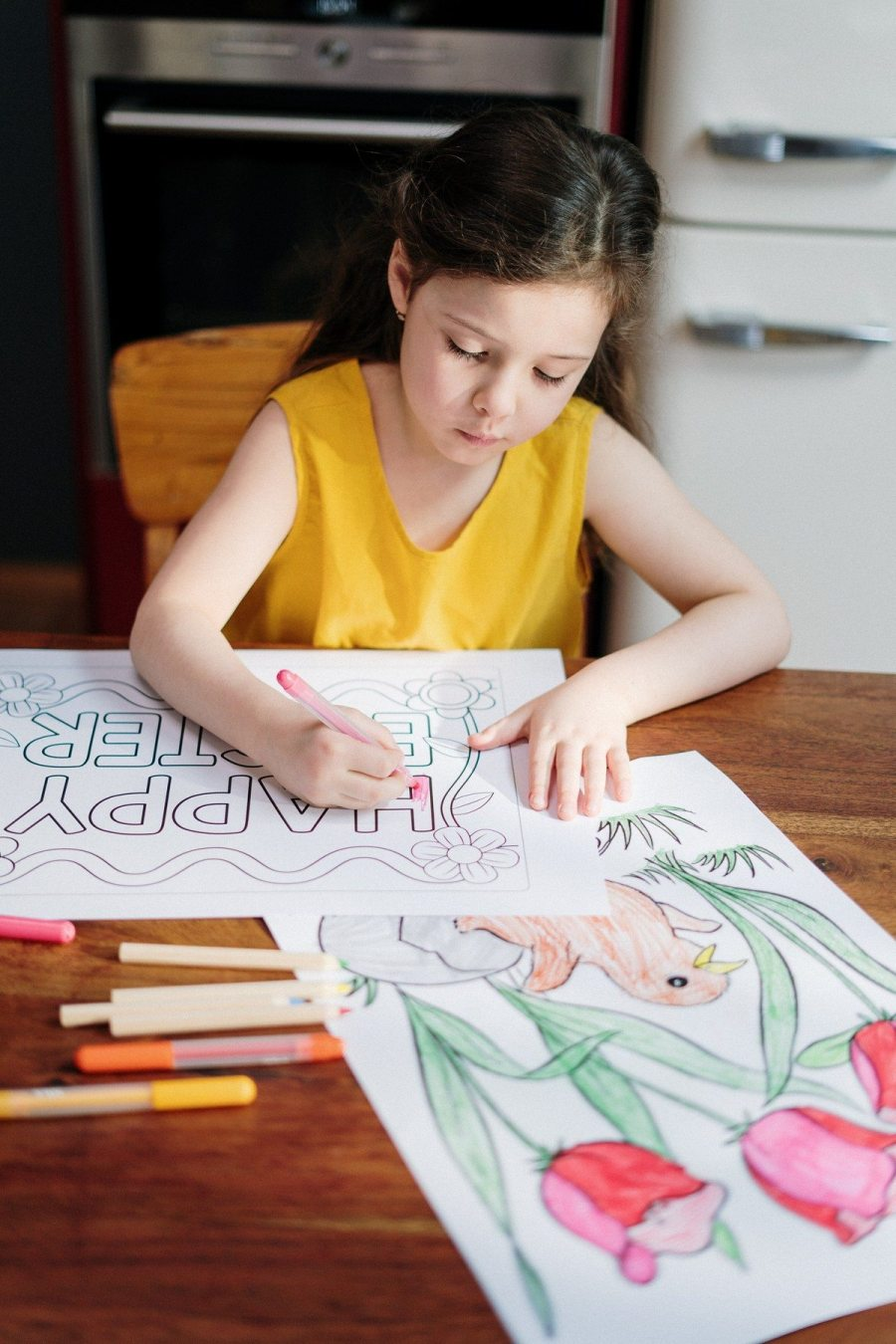 That switch in coloring skills is a milestone for children because it shows that their motor skills and cognitive skills are developing.