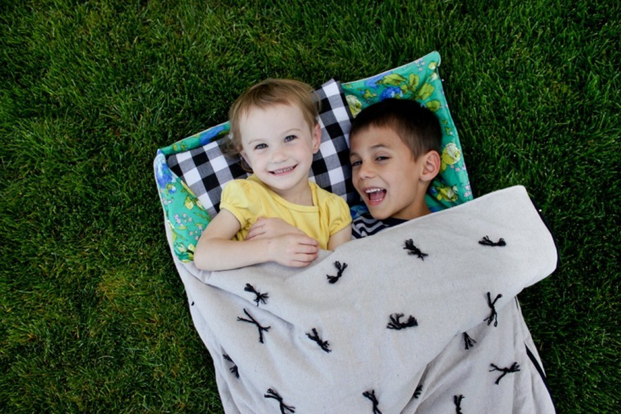 Children have such an adventurous spirit! They want to explore the world during the day and have sleepovers during the night!