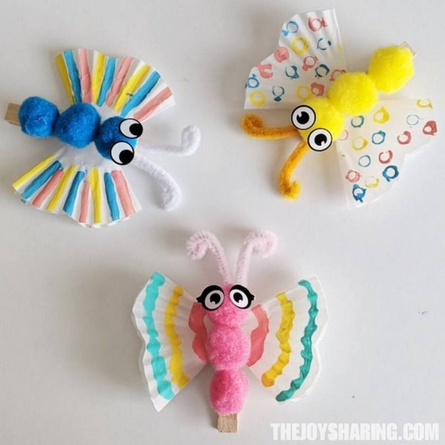 These butterfly crafts for kids are especially perfect for a sunny spring day or an indoor rainy day project.