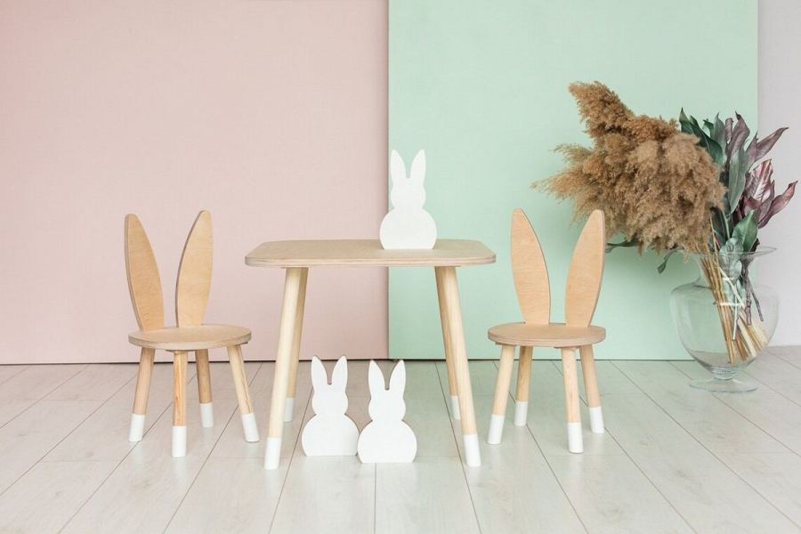 A toddler table and chairs, which are pretty sturdy and perfectly sized for the smaller set, provide the perfect spot for all these activities.