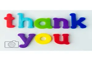 Thank you card linking to Etsy store  to buy