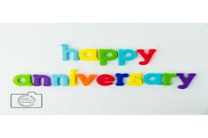 Happy anniversary greetings card linking to Etsy store to buy