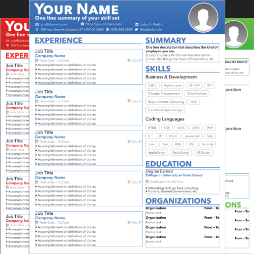 Resource Dream Resume Template Affinity Graphics