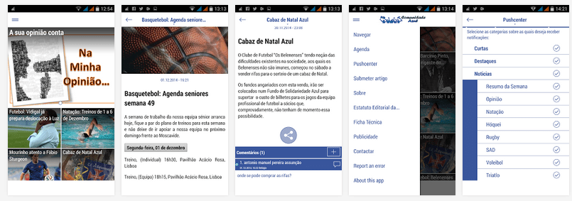 Comunidade Azul com a sua app Android Oferece 50 bilhetes para o Belenenses Vs Braga 1