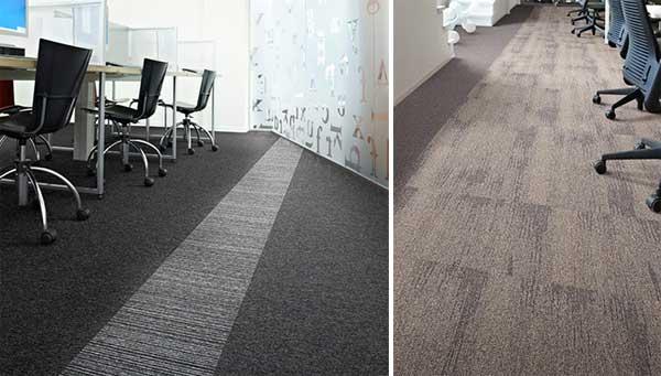 Carpete é escolha confortável e prática para escritórios