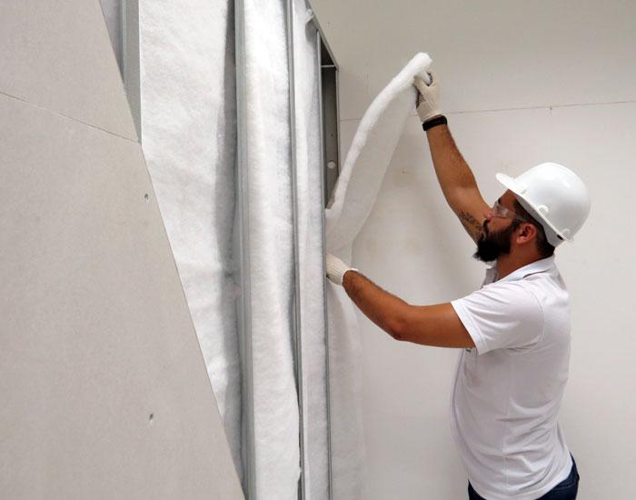 Casas seriam menos frias se paredes fossem de drywall