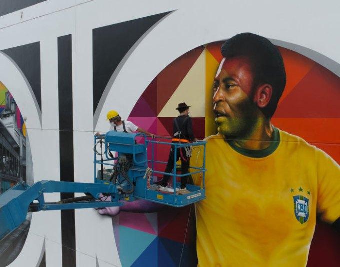Eduardo Kobra em Santos