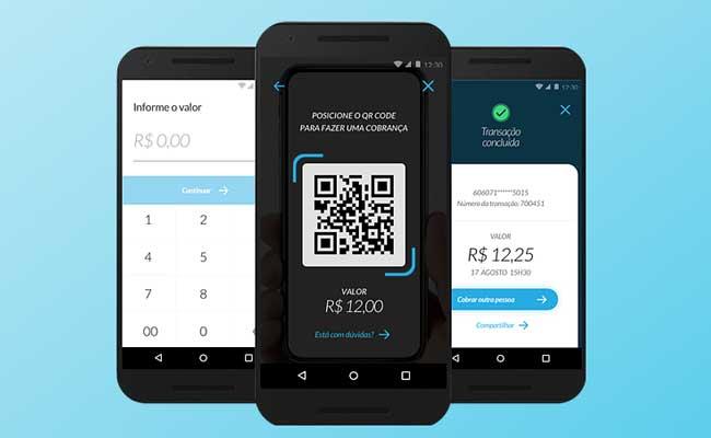 Pagamentos com QR Codes e texto