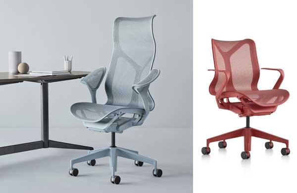 Cadeira Cosm da Herman Miller responde aos movimentos do corpo