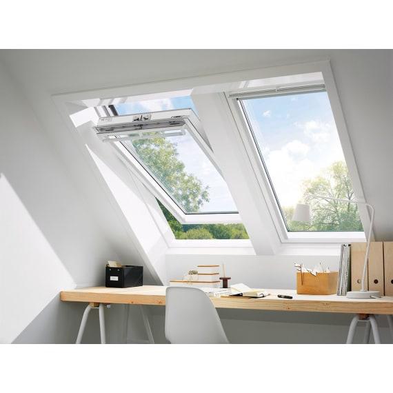 velux dachfenster ggl ck02 3070 schwingfenster klar lackiert thermo alu