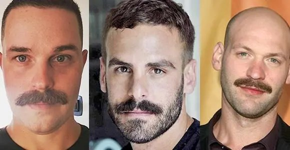 Chevron Mustache Styles With Different Face Shapes