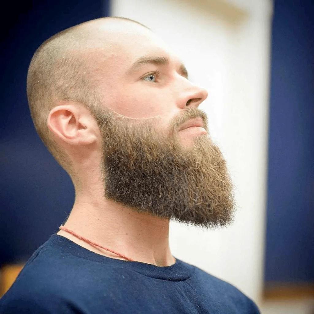 bald man with beard