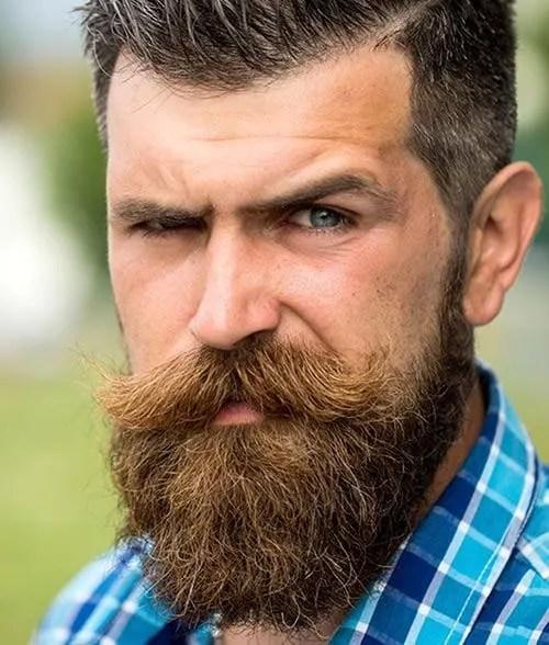 Bushy Beard with Bushy Mustache